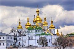 Uspenskiy Katedralny Święty wniebowzięcie Lavra Katedralny Kijowski Ukraina Obraz Royalty Free
