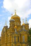 Uspenskoe courtyard Optina Pustyn monastery in St. Petersburg. Christian cathedral. Uspenskoe courtyard Optina Pustyn monastery in St. Petersburg (Russia Royalty Free Stock Images
