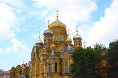 Uspenskoe courtyard Optina Pustyn monastery in St. Petersburg. (Russia Royalty Free Stock Photography