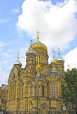 Uspenskoe courtyard Optina Pustyn monastery in St. Petersburg. (Russia Royalty Free Stock Photos