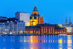 Uspensky大教堂在赫尔辛基,芬兰 库存照片