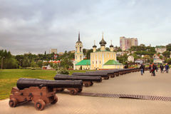 Uspensky Admiralty church in Voronezh city, Russia. Uspensky Admiralty church XVII century is the oldest surviving church in Voronezh. The full name of the Stock Photography