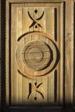 Uspensky Brusensky修道院门塔的片段克里姆林宫在16世纪和修道院被建立了第19的 免版税库存图片