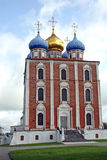 Uspensky Cathedral 02. View at the Uspensky cathedral in Ryazan (Russia Stock Photography