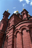 Uspensky Cathedral. Uspensky curch the largest finnish Orthodox Cathedral stock photos