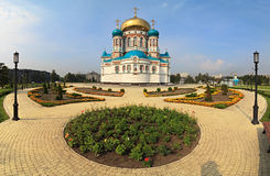 Uspensky Cathedral. Uspensky Cathedral in Omsk. Russia Royalty Free Stock Photo