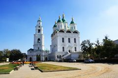 Uspensky Cathedral in Astrakhan stock photos