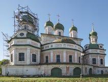 The Uspensky Cathedral, Goricko Uspensky monastery. Museum lane 4, Pereslavl-Zalessky, Yaroslavl region. Russian Federation. 15 se. The Uspensky Cathedral royalty free stock photos