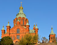 Uspensky Cathedral. In Helsinki. Built 1868, it is largest Orthodox Cathedral in Western Europe Stock Photography