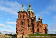 Uspensky Cathedral in Helsinki. Built in 1868 Stock Photo