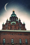 Uspensky Cathedral in Helsinki. Stock Image