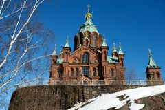 Uspensky Cathedral, Helsinki, Finland Stock Images