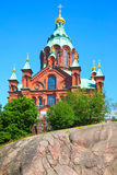 Uspensky Cathedral in Helsinki. Finland Royalty Free Stock Images