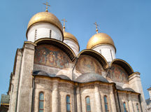 Uspensky Cathedral in Moscow Kremlin. Uspensky old Cathedral in Moscow Kremlin, Russia Royalty Free Stock Images