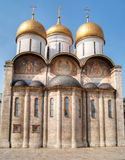 Uspensky Cathedral in Moscow Kremlin. (right side Stock Image
