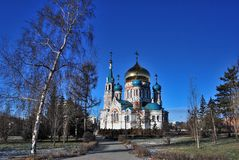 Uspensky Cathedral. Omsk. Royalty Free Stock Photo