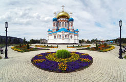 Uspensky Cathedral in Omsk, Russia Stock Photography