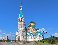 Uspensky Cathedral in Omsk, Russia Royalty Free Stock Photos