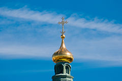 Uspensky Cathedral Roof Cross Royalty Free Stock Photos