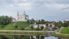 Uspensky Cathedral in Vitebsk stock video