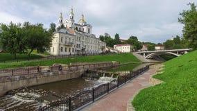 Uspensky Cathedral in Vitebsk stock video footage