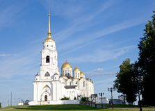 Uspensky cathedral at Vladimir city, front view Royalty Free Stock Photo