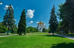 Uspensky Cathedral in Yaroslavl Russia. Golden ring of Russia Royalty Free Stock Images