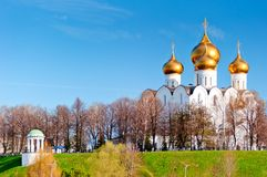 Uspensky Cathedral in Yaroslavl. Russia Stock Images