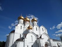 Uspensky cathedral in the center of Yaroslavl. Uspensky cathedral in Yaroslavl. Sunny summer, blue sky Royalty Free Stock Images
