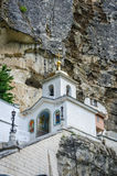 Uspensky cave monastery near Bakchisarai, Crimea Royalty Free Stock Photos