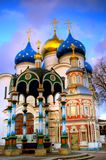 Uspensky Church Trinity-St. Sergius Lavra. Sity Sergiev Posad, Russia Stock Photos