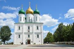 Uspensky katedra w Kolomna Kremlin, Moskwa region Obraz Stock