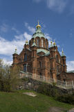 Uspensky Kathedrale in Helsinki Stockfoto