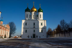 Uspensky-Kathedrale in Kolomna Stockbild