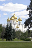 Uspensky-Kathedrale Yaroslavl Russland Stockbild
