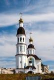 Uspensky kyrka i Arkhangelsk Royaltyfri Bild