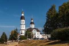Uspensky kyrka i Arkhangelsk Royaltyfria Foton
