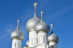 Uspenskykathedraal in Kolomna het Kremlin, Gouden ring van Rusland Royalty-vrije Stock Foto's