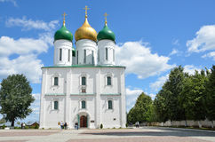 Uspenskykathedraal in Kolomna het Kremlin, het gebied van Moskou stock afbeelding