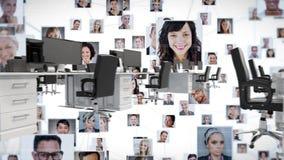 Uspołeczniać w biurze zbiory wideo