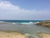 Uspokajać morze Zdjęcia Royalty Free