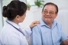 Uspokajający pacjent Fotografia Royalty Free