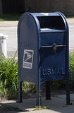 USpostal service. Merril/IOWA /USA- US mail infron of United states Post office in Merrill Iowa ruler america on 200 people ppopulation in Plymouth county Stock Photos