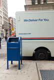 Usps mail delivery truck Stock Images