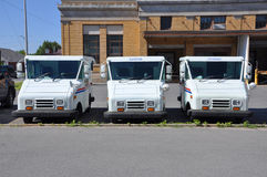 USPS postal vehicle. Grumman LLV (Grumman Long Life Vehicle) is the vehicle primarily used by United States Postal Service (USPS), Photo taken in Potsdam Post stock photo