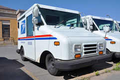 USPS postal vehicle. Grumman LLV (Grumman Long Life Vehicle) is the vehicle primarily used by United States Postal Service (USPS), Photo taken in Potsdam Post Stock Photo