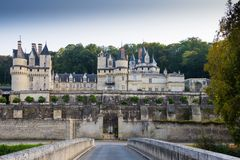 ` Ussé do castelo d, Loire Valley, França Fotografia de Stock