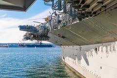 USS中途博物馆是海博物馆 免版税图库摄影