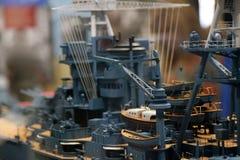 USS亚利桑那模型 库存图片