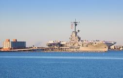 USS列克星敦在科珀斯克里斯提 免版税库存照片